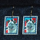 Norwegian Elkhound Norway Flag Earrings Jewelry