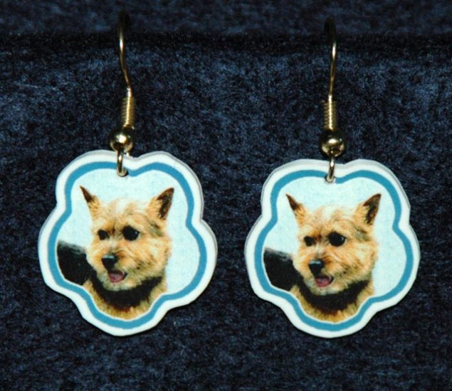 Norwich Terrier Earrings Jewelry Handmade