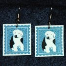 Old English Sheepdog Puppy Jewelry Earrings Handmade