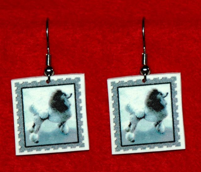 Poodle Jewelry Earrings Handmade