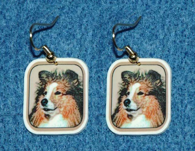 Sheltie Shetland Sheepdog Dog Jewelry Earrings Handmade