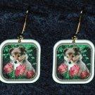 Sheltie Shetland Sheepdog Puppy Jewelry Earrings Handmade