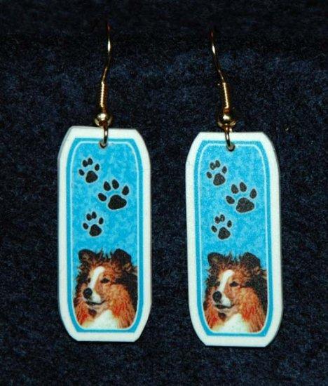 Sheltie Shetland Sheepdog Earrings Jewelry Handmade