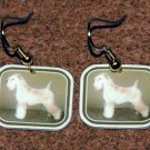 Soft Coated Wheaten Terrier Earrings Handmade