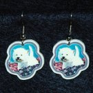 West Highland White Terrier Westie Dog Earrings Jewelry