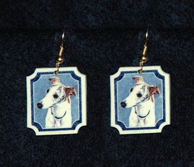 Whippet Jewelry Earrings Handmade