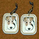 Wire Fox Terrier Wired Hair Dog Earrings Handmade