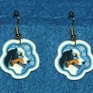 Australian Shepherd Dog Christmas Snowflake Earrings Handmade