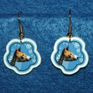 Basenji Basenjis Christmas Snowflake Earrings Handmade