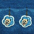Cairn Terrier Christmas Snowflake Earrings Jewelry