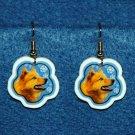Finnish Spitz Dog Flag Christmas Snowflake Earrings Jewelry