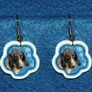 German Shorthaired Pointer Jewelry Christmas Snowflake Earrings Handmade