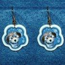 Havanese Puppy Jewelry Christmas Snowflake Earrings Handmade