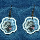Keeshond Dog Christmas Snowflake Earrings Jewelry Handmade