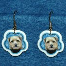 Norfolk Terrier Puppy Christmas Snowflake Earrings Jewelry