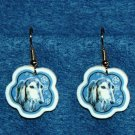 Saluki Dog Jewelry Christmas Snowflake Earrings Handmade