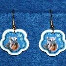 Schnauzer Jewelry Christmas Snowflake Earrings Handmade