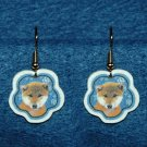 Shiba Inu Jewelry Christmas Snowflake Earrings Handmade
