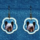 Skye Terrier Christmas Snowflake Earrings Jewelry Handmade