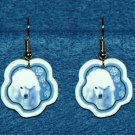 Standard Poodle Dog Jewelry Christmas Snowflake Earrings Handmade