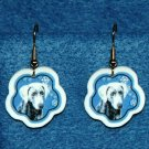 Weimaraner Jewelry Christmas Snowflake Earrings Handmade