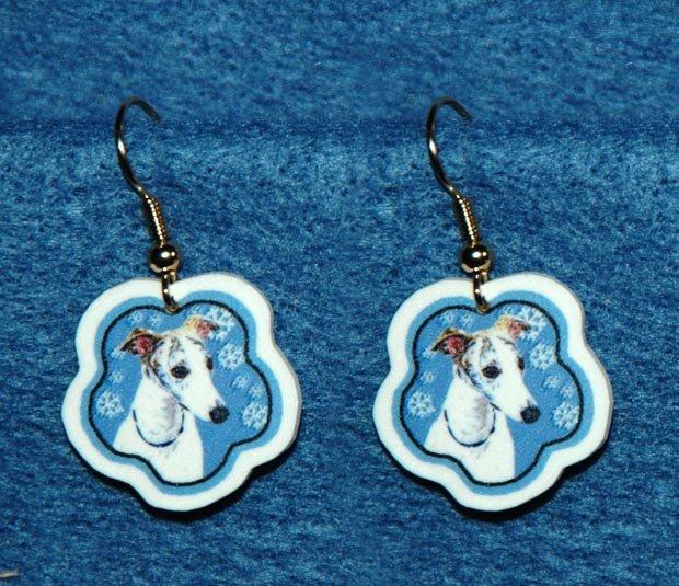 Whippet Jewelry Christmas Snowflake Earrings Handmade