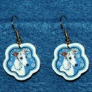 Whippet Jewelry Christmas Snowflake Earrings Handmade