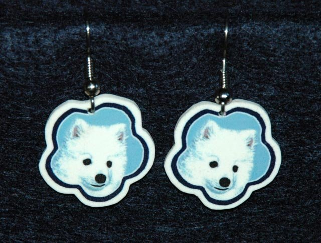 American Eskimo Eskie Earrings Jewelry Handmade