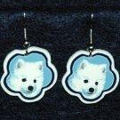 American Eskimo Eskie Earrings Jewelry Handmade