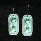 Timber Wolf Wolves Earrings Handmade Jewelry