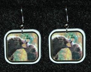 Grizzly Bears Kissing Bear Earrings Handmade