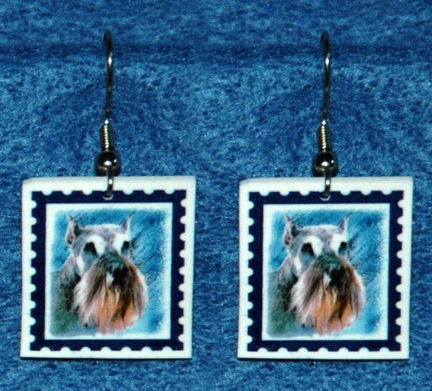 Schnauzer Jewelry Earrings Handmade