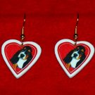 Basset Hound Puppy Heart Earrings Jewelry Handmade
