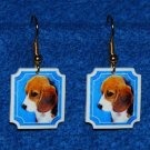 Beagle Puppy Dog Jewelry Earrings Handmade