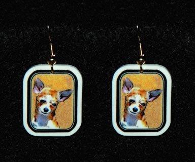 Chihuahua Dog Earrings Handmade