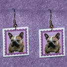 French Bulldog Frenchie Dog Earrings Handmade
