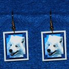 Samoyed Earrings Handmade
