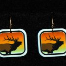 Elk Sunset Earrings - Handmade