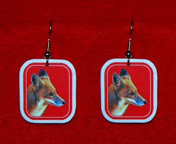 Red Fox Earrings - Handmade