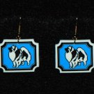 Keeshond Earrings - Handmade
