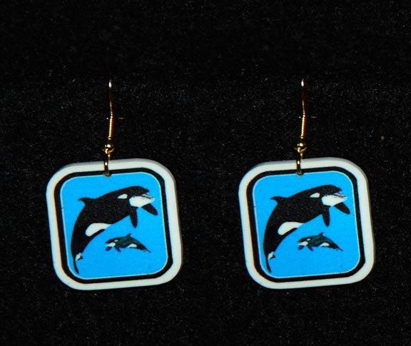 Orca Killer Whale Earrings - Handmade