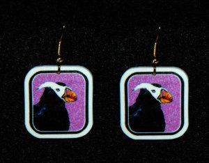 Tufted Puffin Earrings - Handmade