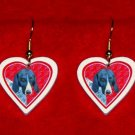 German Shorthaired Pointer Heart Jewelry Earrings Handmade
