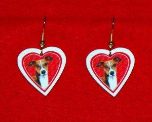 Italian Greyhound Valentine Heart Earrings - Handmade