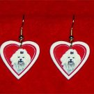 Maltese Heart Valentine Earrings Jewelry