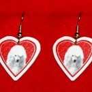 Standard Poodle Dog Heart Jewelry Earrings Handmade