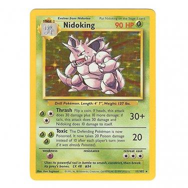 Pokemon   Nidoking Holofoil - Base Set- Unlimited - Never played Near Mint/Mint NM/M