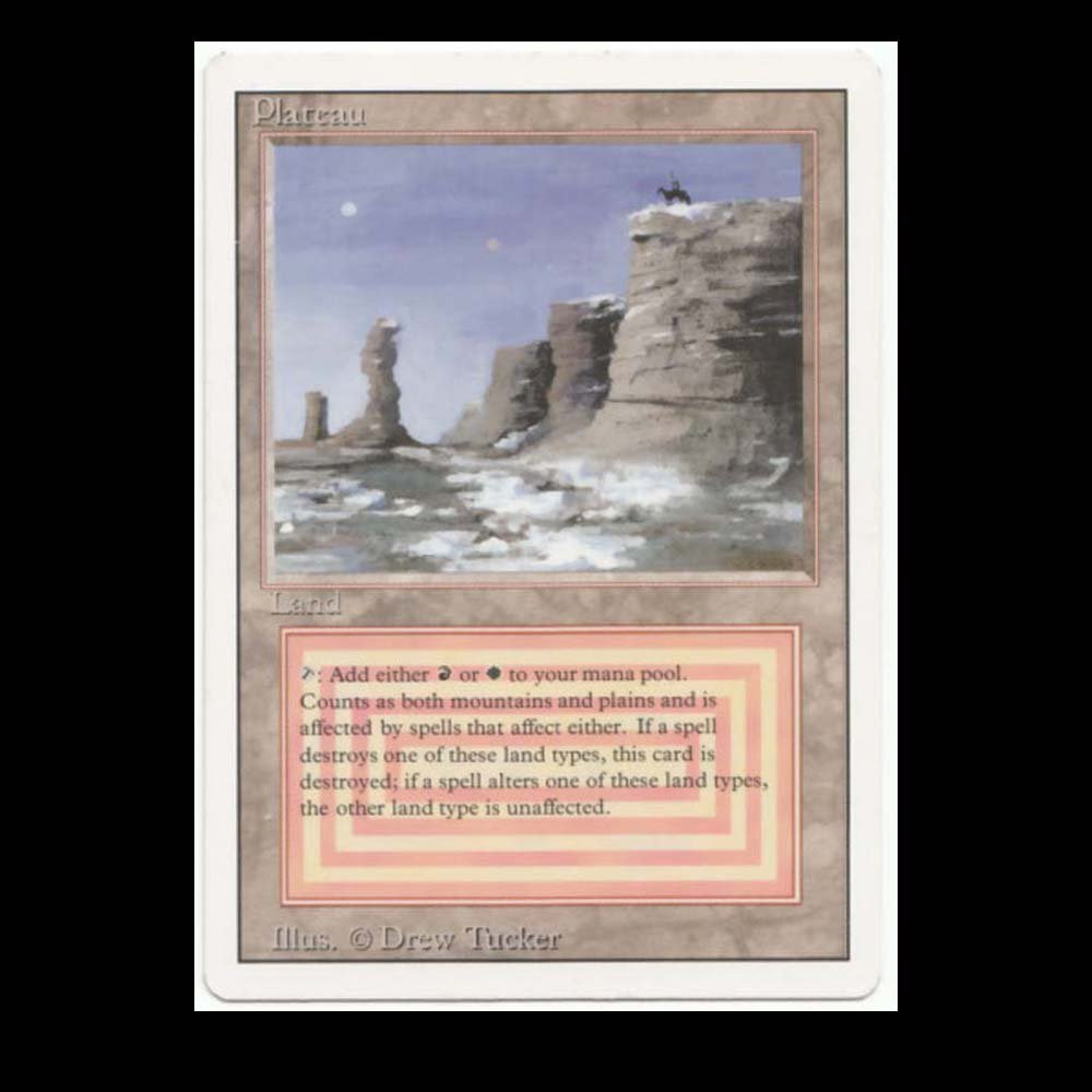 Revised Edition  MTG  Plateau   Magic Dual Land