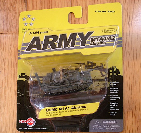 Can.Do 1/144 Scale USMC M1A1 Abrams Tank NEW