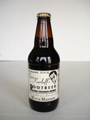 Vintage Boris Karloff's Root Beer Bottle Unopened